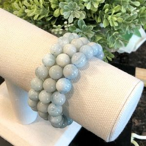 10mm Genuine Light Blue Aquamarine Beads  7.5""